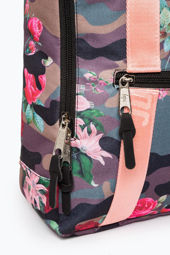 HYPE KHAKI FLOWER CAMO BOXY BACKPACK