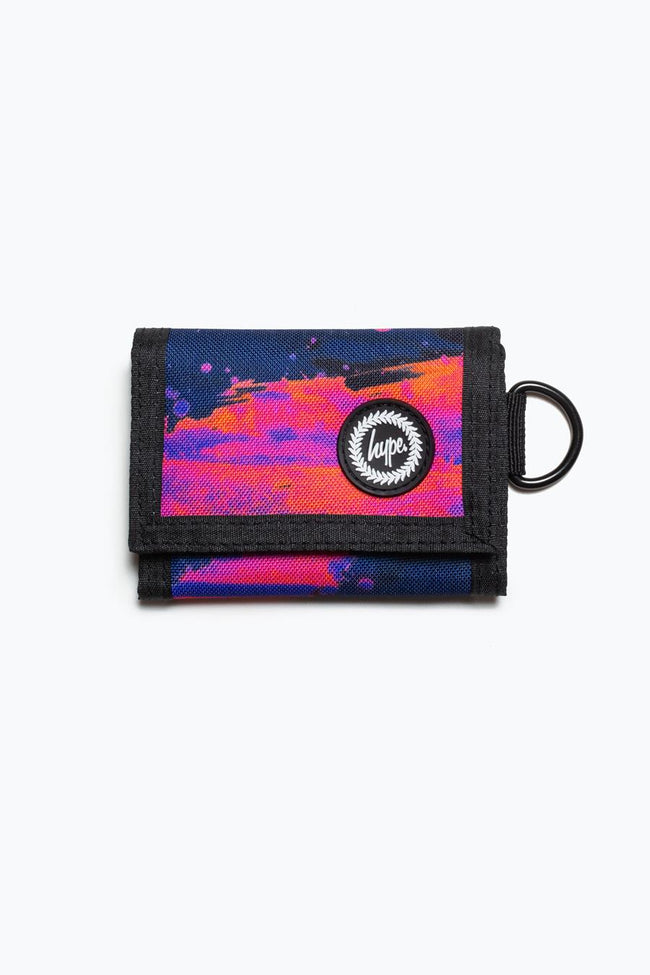 HYPE SUNSET PAINT TRIFOLD WALLET