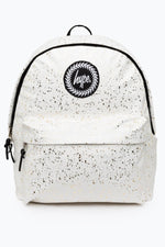 HYPE WHITE ROSE GOLD FLAKES BACKPACK