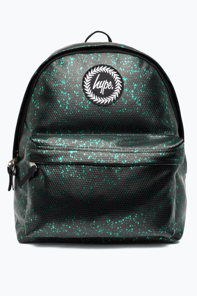 HYPE BLACK WITH GREEN FLAKES BACKPACK