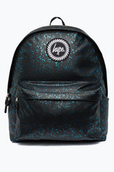 HYPE BLACK WITH BLUE FLAKES BACKPACK