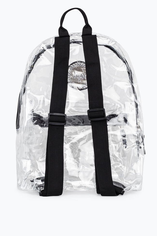 HYPE WHITE TRANSPARENT BACKPACK