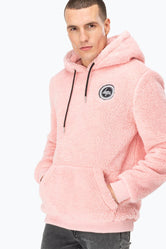 HYPE PINK SHERPA MEN'S PULLOVER HOODIE
