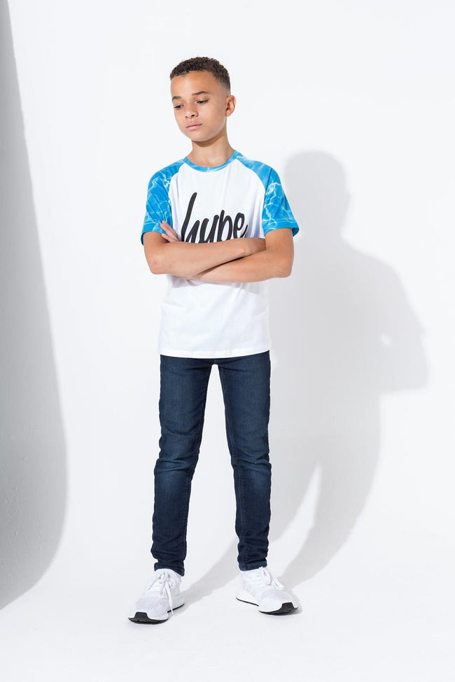 HYPE WHITE POOL RAGLAN KIDS T-SHIRT