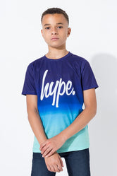 HYPE NAVY SPECKLE FADE KIDS T-SHIRT