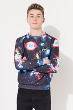 HYPE NEBULA KIDS CREW NECK