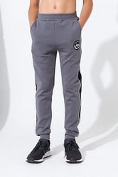 HYPE GREY CREST TRACK KIDS JOGGERS
