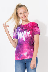 HYPE PINK GALAXY KIDS T-SHIRT