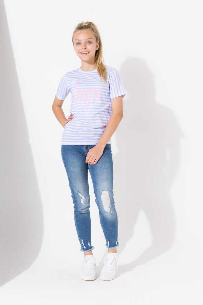 HYPE LILAC STRIPE KIDS T-SHIRT
