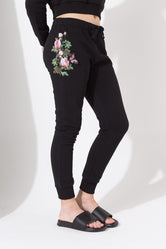 HYPE BLACK BUTTERFLY ROSE KIDS JOGGERS