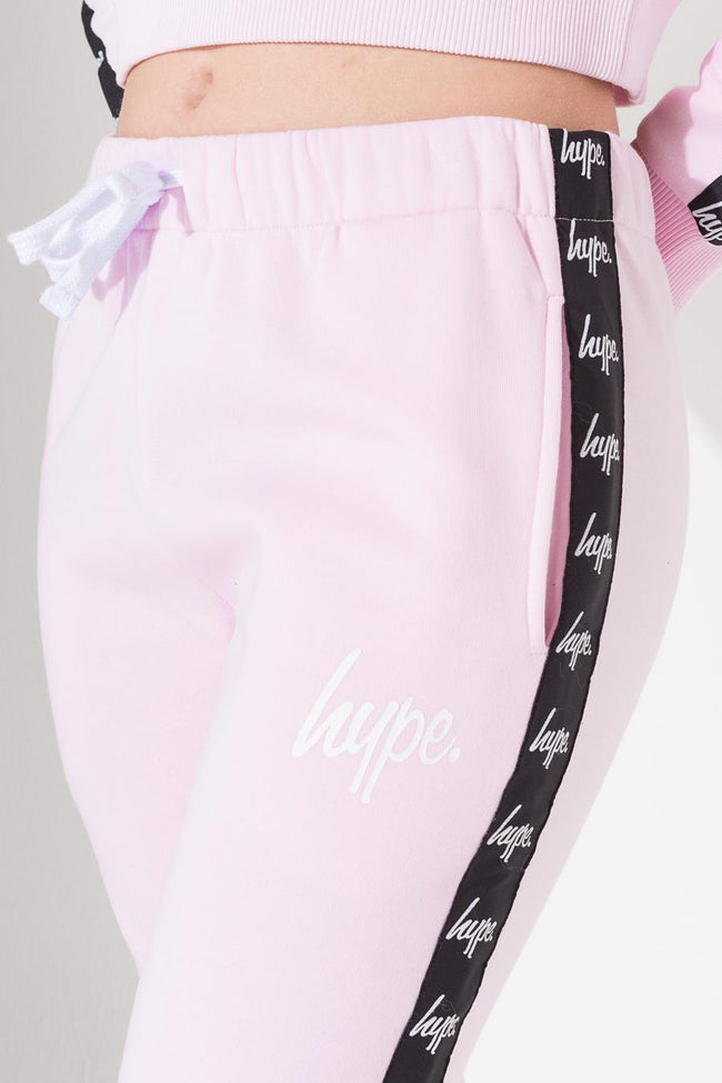 HYPE LILAC TAPE MINI SCRIPT KIDS JOGGERS