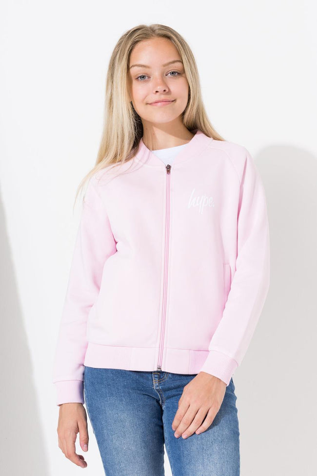 HYPE LILAC MINI SCRIPT KIDS BOMBER JACKET