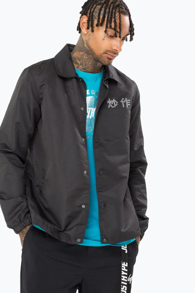 HYPE BLACK PIT GIRL MENS COACH JACKET