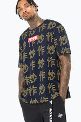 HYPE NAVY ASIAN TOUR MEN'S T-SHIRT