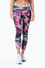 HYPE BLACK LIGHT TRAIL WOMENS LEGGINGS