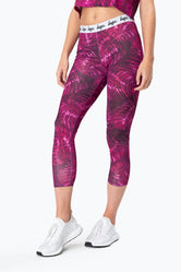 HYPE BLACK NEON LEAVES WOMEN'S LEGGINGS