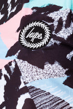 HYPE PASTEL ABSTRACT WOMEN'S CROP TEE