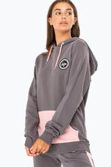 HYPE CHARCOAL POP WOMEN'S HOODIE AND JOGGERS SET
