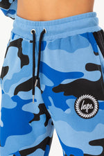 HYPE BLUE TAPED CAMO WOMENS JOGGERS