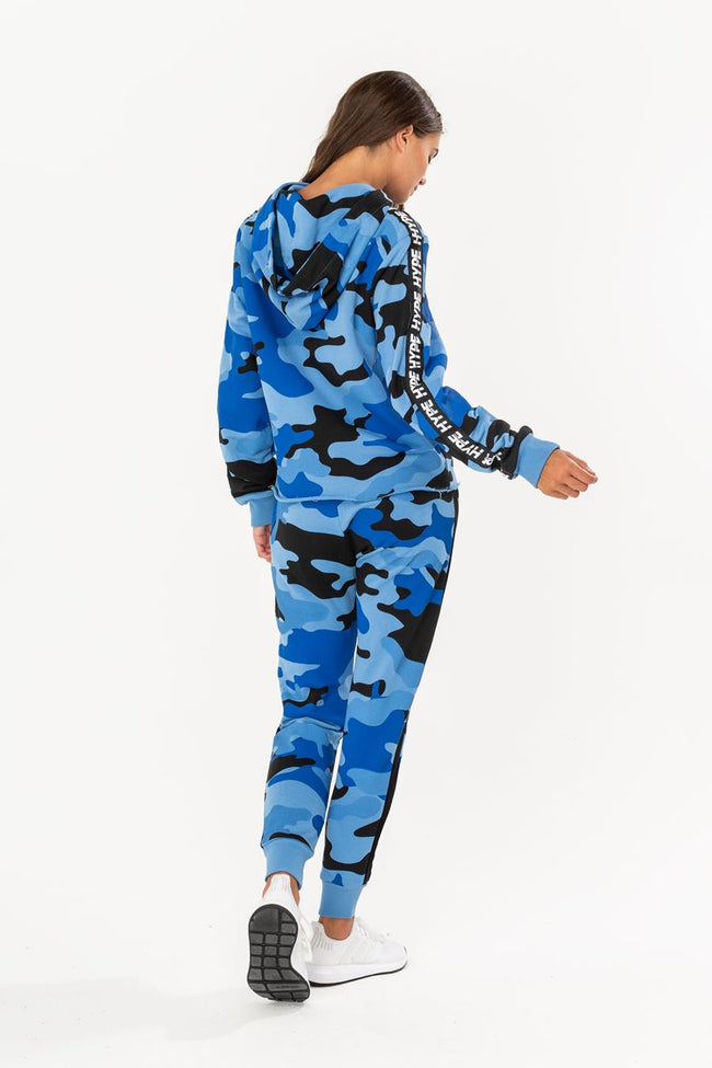 HYPE BLUE TAPED CAMO WOMEN'S JOGGERS