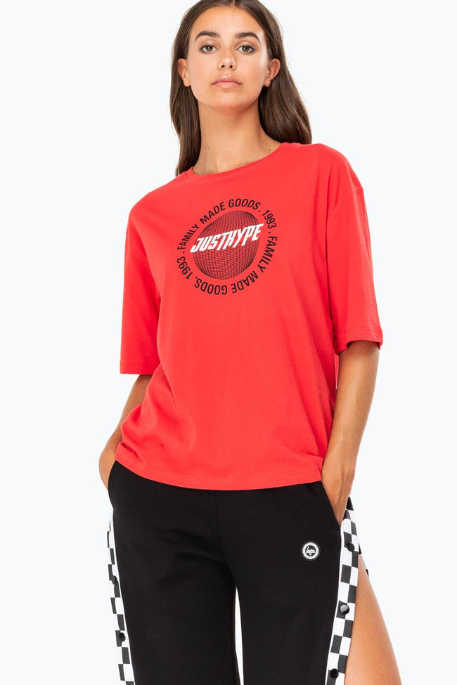 HYPE RED GLOBAL FMG BOXY WOMENS T-SHIRT