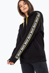 HYPE BLACK WARNING WOMEN'S PULLOVER HOODIE