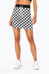 HYPE BLACK CHECKERBOARD WOMEN'S SKIRT