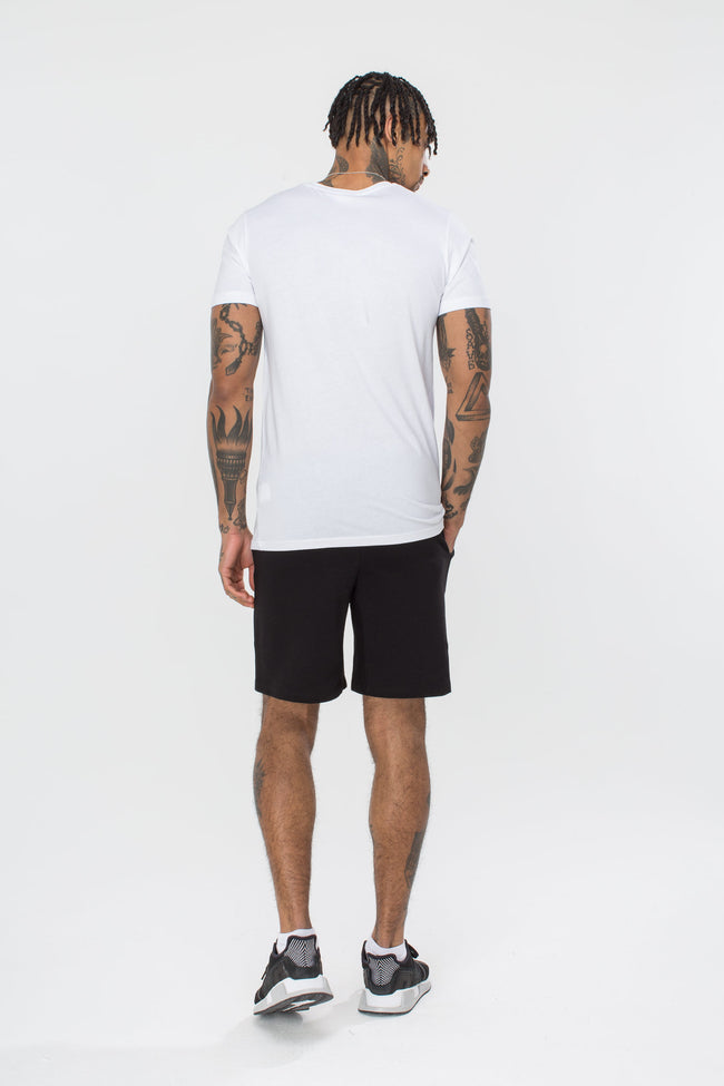 HYPE WHITE SCRIPT MENS T-SHIRT
