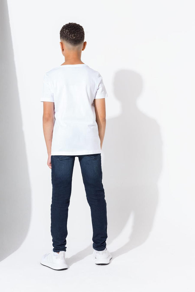 HYPE WHITE SCRIPT KIDS T-SHIRT
