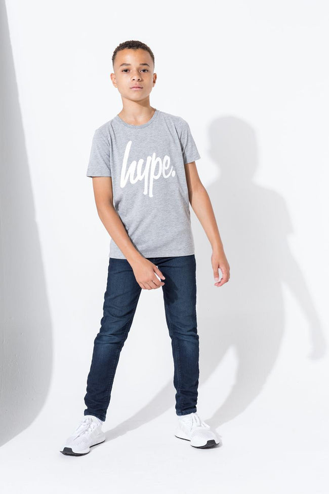 HYPE GREY HYPE SCRIPT KIDS T-SHIRT