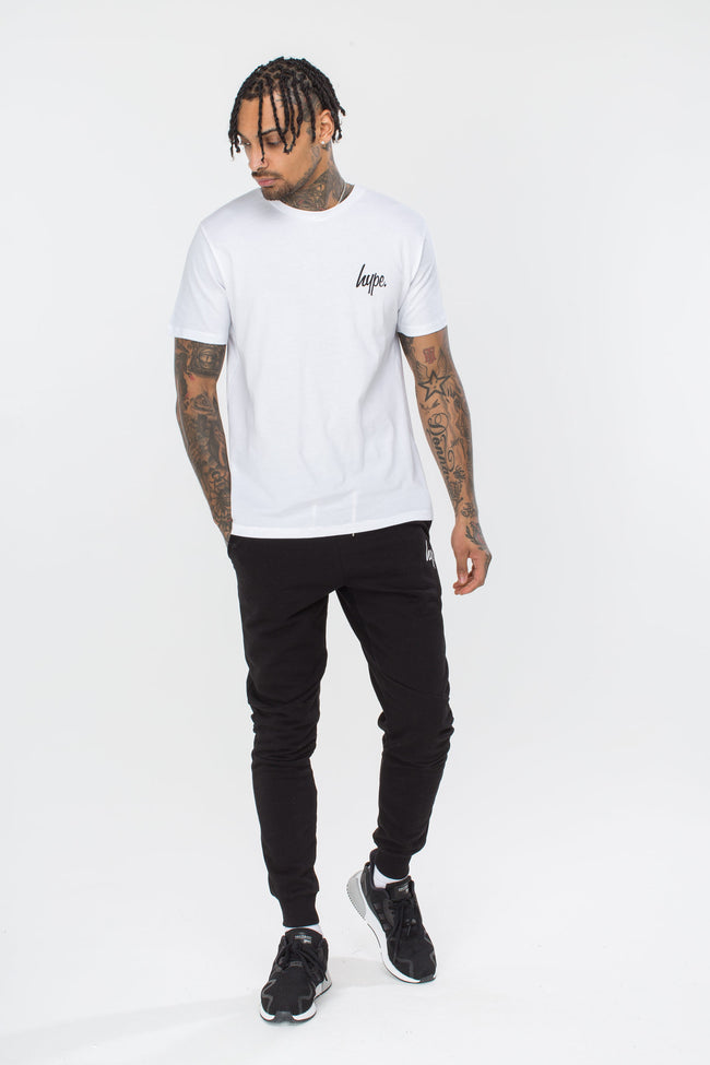 HYPE WHITE BREAST MINI SCRIPT MENS T-SHIRT