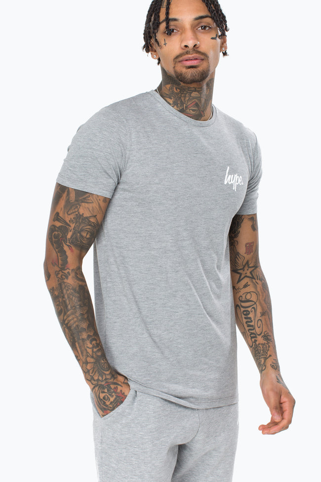 HYPE GREY BREAST MINI SCRIPT MENS T-SHIRT