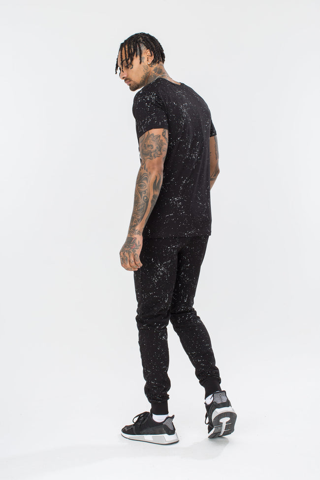 HYPE BLACK AOP SPECKLE MENS T-SHIRT