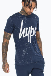 HYPE NAVY AOP SPECKLE MEN'S T-SHIRT