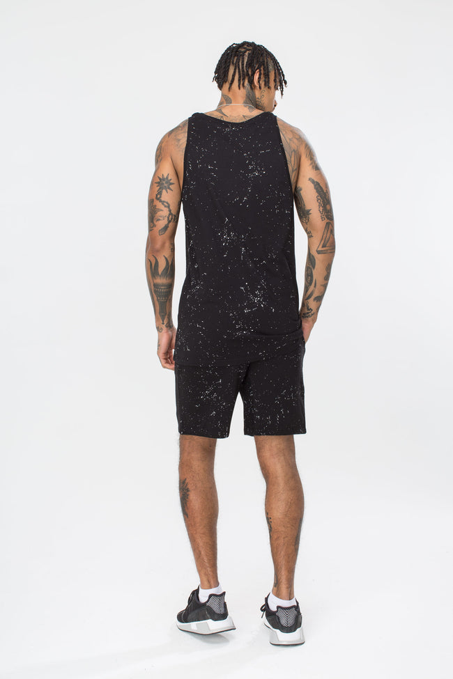 HYPE BLACK AOP SPECKLE MENS VEST