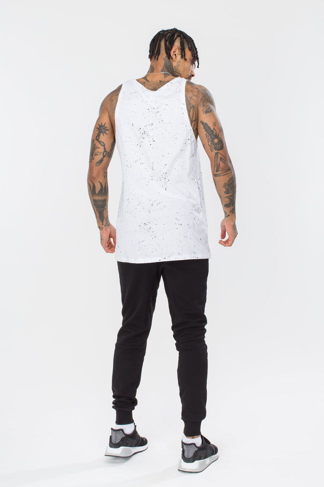HYPE WHITE AOP SPECKLE MEN'S VEST