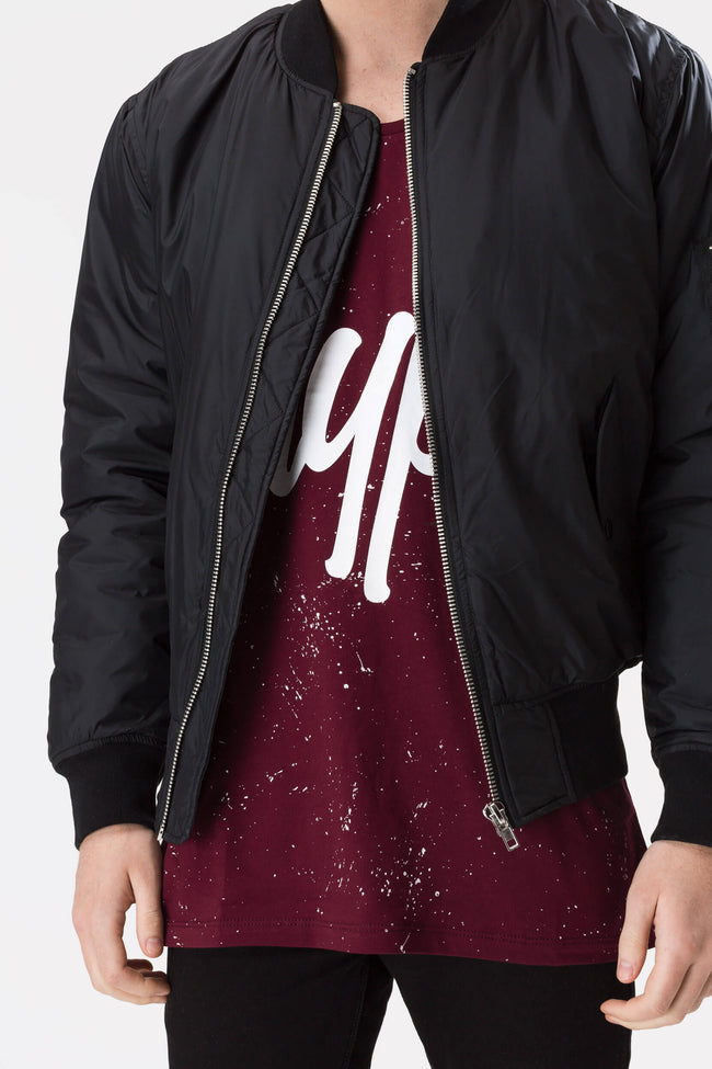 HYPE BURGUNDY AOP SPECKLE MENS VEST