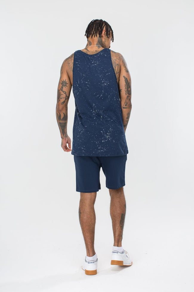 HYPE NAVY AOP SPECKLE MEN'S VEST