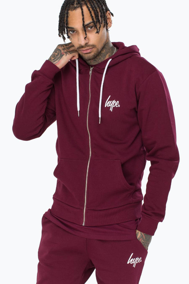 HYPE BREAST MINI SCRIPT MENS ZIP HOODIE
