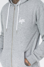 HYPE GREY MINI SCRIPT MEN'S ZIP HOODIE