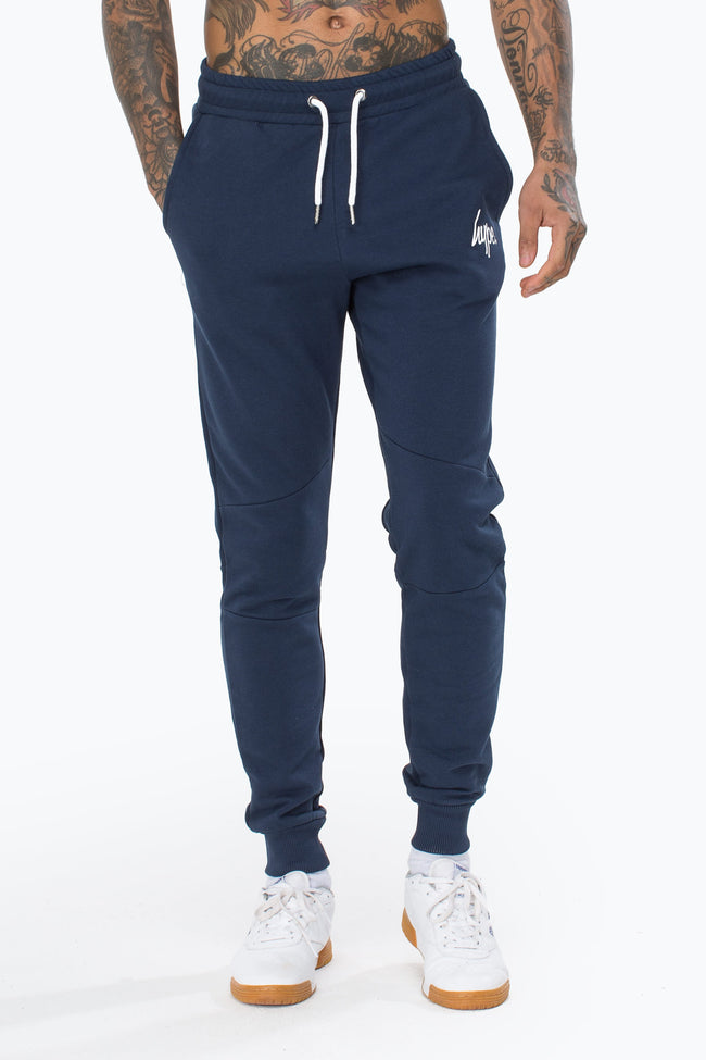 HYPE NAVY SCRIPT MEN'S JOGGERS