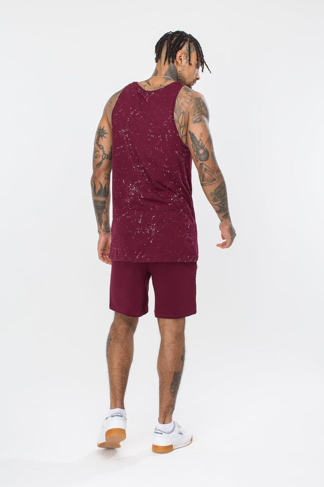 HYPE BURGUNDY SCRIPT MENS SHORTS