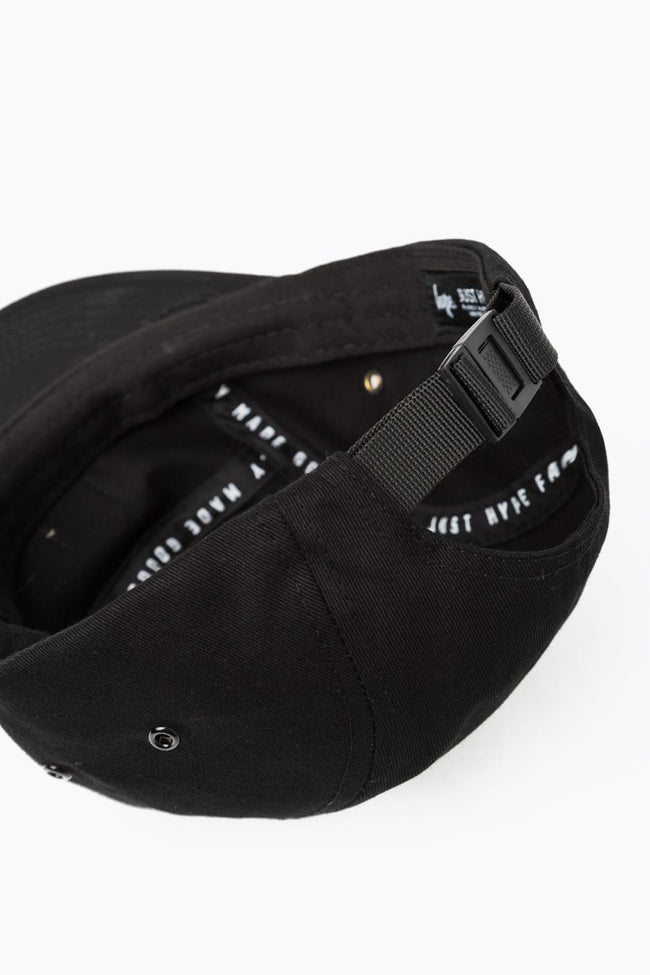 HYPE BLACK SCRIPT 5 PANEL HAT