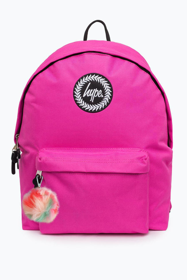 HYPE PINK BADGE POM POM  BACKPACK