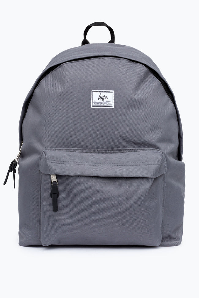 HYPE GREY WOVEN TAB BACKPACK