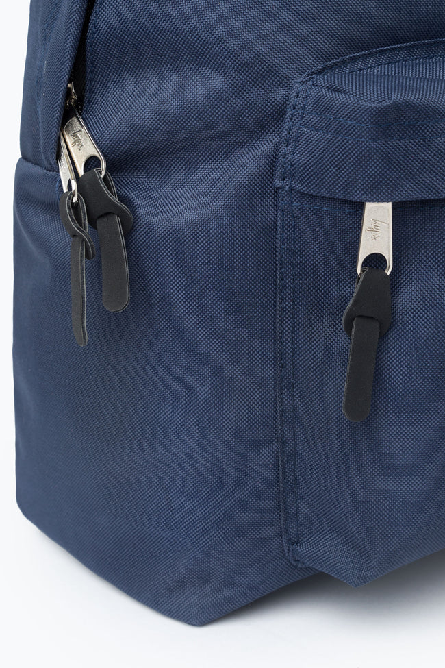 HYPE NAVY WOVEN TAB BACKPACK
