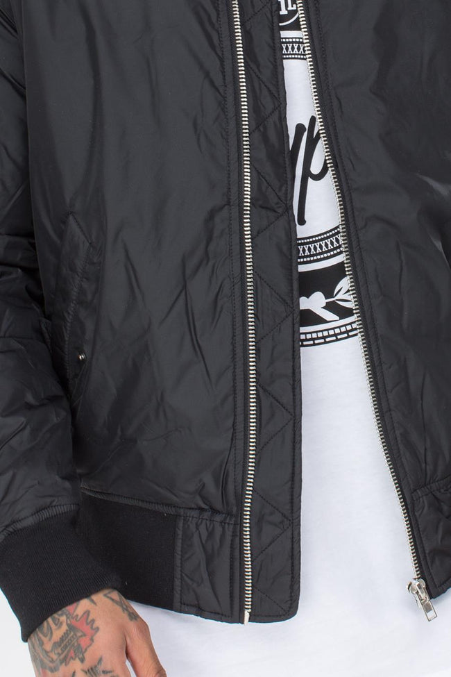 HYPE BLACK CLASSIC MENS BOMBER JACKET