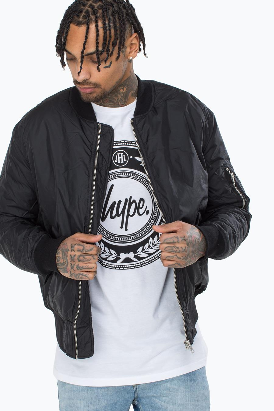 reasonable price cheap for sale new high HYPE BLACK CLASSIC MENS BOMBER JACKET