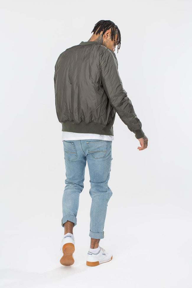 HYPE KHAKI CLASSIC MEN'S BOMBER JACKET