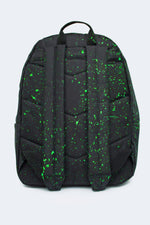 HYPE BLACK WITH GREEN SPECKLE BACKPACK